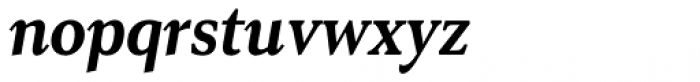 Senlot Serif Condensed Ex Bold Italic Font LOWERCASE