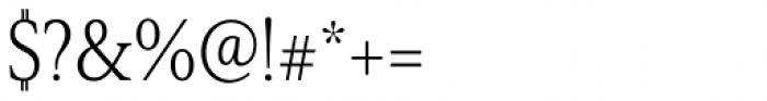 Senlot Serif Condensed Light Font OTHER CHARS