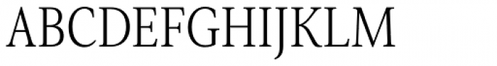 Senlot Serif Condensed Light Font UPPERCASE