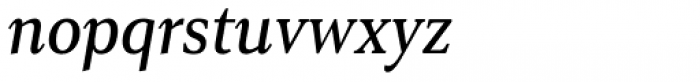 Senlot Serif Condensed Medium Italic Font LOWERCASE