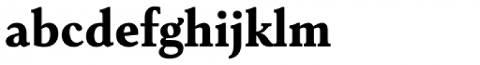 Senlot Serif Norm Black Font LOWERCASE