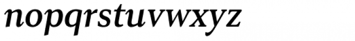 Senlot Serif Norm Demi Italic Font LOWERCASE