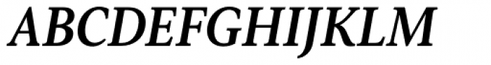 Senlot Serif Norm Ex Bold Italic Font UPPERCASE