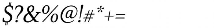 Senlot Serif Norm Medium Italic Font OTHER CHARS
