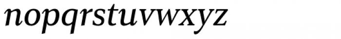 Senlot Serif Norm Medium Italic Font LOWERCASE