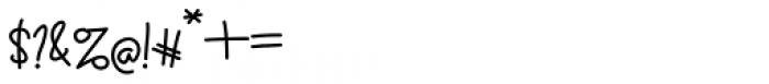 Sennita Regular Font OTHER CHARS