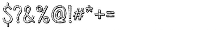 Sensa Wild Dot Outline Shade Font OTHER CHARS