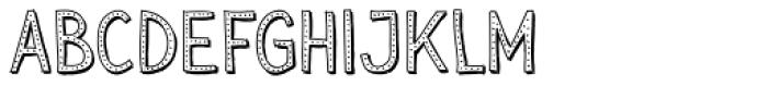 Sensa Wild Dot Outline Shade Font LOWERCASE