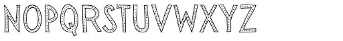 Sensa Wild Dot Outline Font UPPERCASE