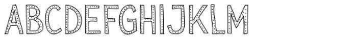 Sensa Wild Dot Outline Font LOWERCASE