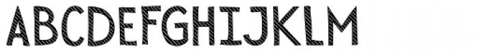 Sensa Wild Line Fill Font UPPERCASE