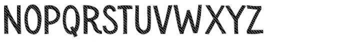 Sensa Wild Line Fill Font LOWERCASE