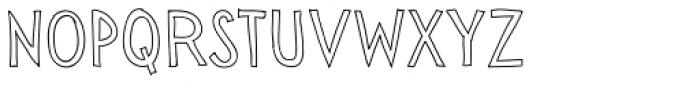 Sensa Wild Outline Font UPPERCASE