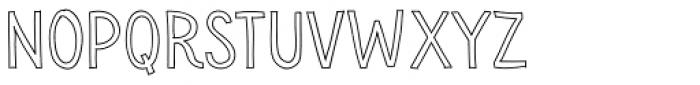 Sensa Wild Outline Font LOWERCASE
