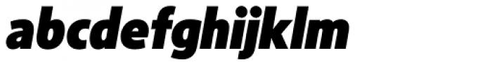 Sense Black Italic Font LOWERCASE