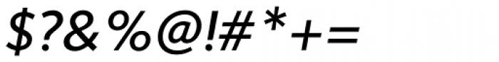 Sense Italic Font OTHER CHARS