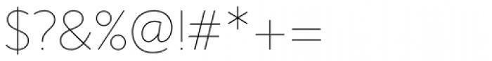 Sense Thin Font OTHER CHARS