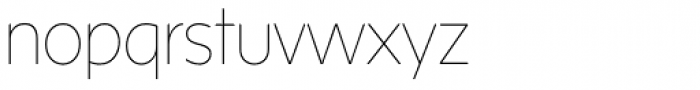 Sense Thin Font LOWERCASE