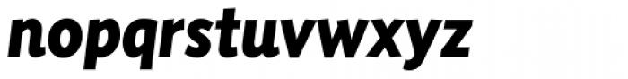 Sensibility ExtraBold Italic Font LOWERCASE