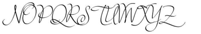 Sensual Font UPPERCASE