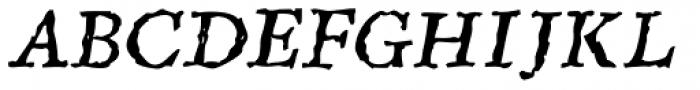 Sepia Italic Font UPPERCASE