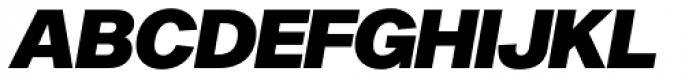 Sequel Sans Black Oblique Display Font UPPERCASE