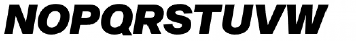 Sequel Sans Black Oblique Headline Font UPPERCASE