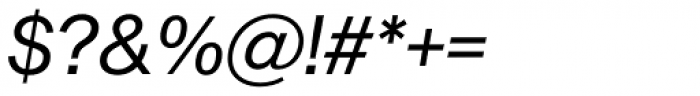 Sequel Sans Book Oblique Display Font OTHER CHARS