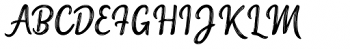 Serene Textured Font UPPERCASE