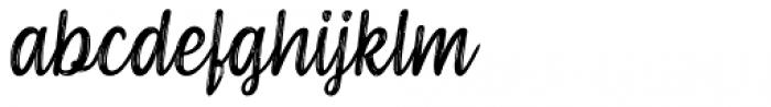 Serene Textured Font LOWERCASE
