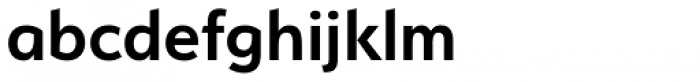 Serenity DemiBold Font LOWERCASE