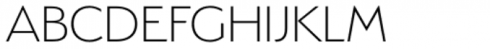 Serenity ExtraLight Font UPPERCASE