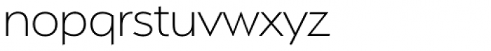 Serenity ExtraLight Font LOWERCASE