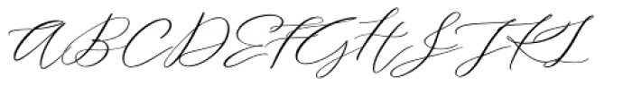 Serenity Font Duo Script Font UPPERCASE