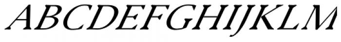 Serenity Font Duo Serif Italic Font UPPERCASE