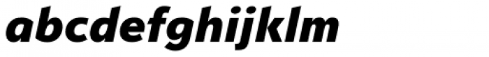 Serenity Heavy Italic Font LOWERCASE