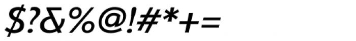 Serenity Medium Italic Font OTHER CHARS