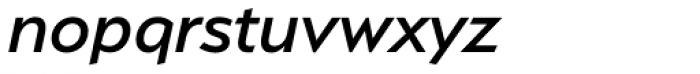 Serenity Medium Italic Font LOWERCASE