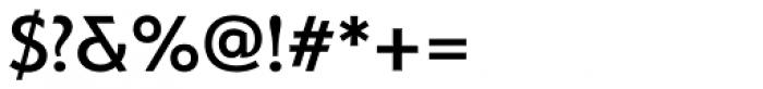 Serenity Medium Font OTHER CHARS