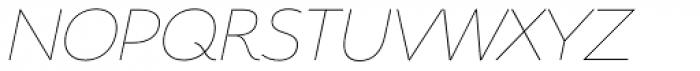 Serenity Thin Italic Font UPPERCASE