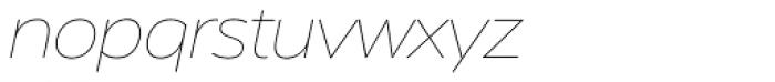Serenity Thin Italic Font LOWERCASE