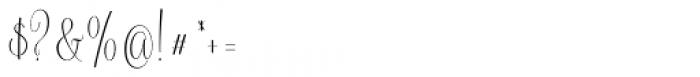 Serenus Condensed Regular Font OTHER CHARS