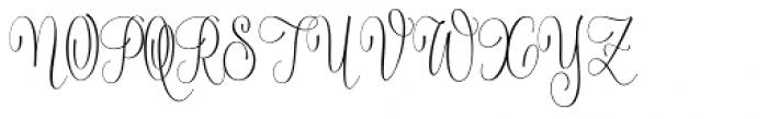 Serenus Condensed Regular Font UPPERCASE