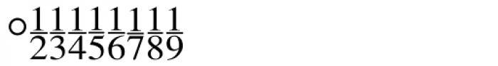 Seri Fractions Vertical Plain Font OTHER CHARS
