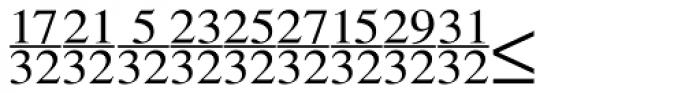 Seri Fractions Vertical Plain Font UPPERCASE