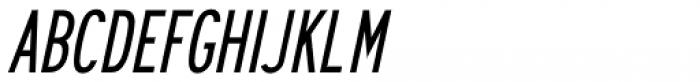 Series A Signage Oblique JNL Font UPPERCASE