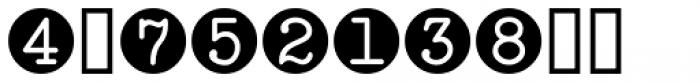 Serif Circle Callouts JNL Font OTHER CHARS