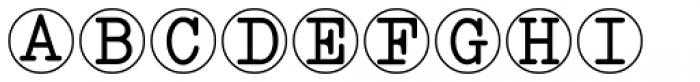 Serif Circle Callouts JNL Font UPPERCASE