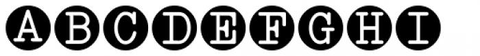 Serif Circle Callouts JNL Font LOWERCASE