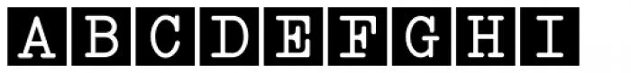 Serif Square Callouts JNL Font LOWERCASE